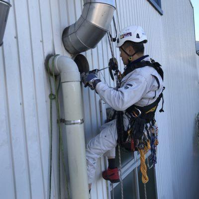 ダクトの雨水漏れ防止工事